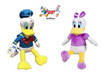 Disney - Pack peluches Daisy y Donald 35cm - Calidad super soft