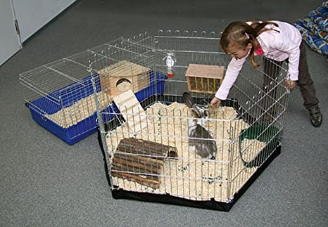 6 esquinas freigehege con suelo de nailon para roedores (Conejos ...