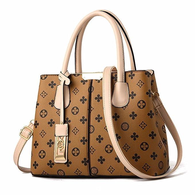 BMKWSG Damen Handtaschen Leder Umhängetaschen groß top