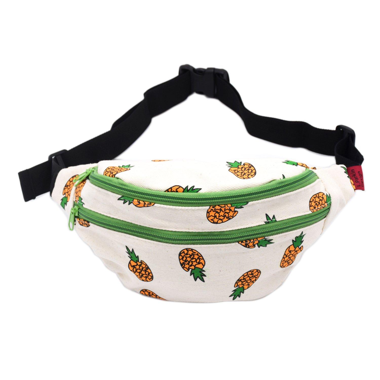 Amazon.com  LParkin Fanny Pack Pineapple Hip Bag Waist Bag Canvas Bum Belt  Hip Pouch Bags Purses Festival (Green)  Sports   Outdoors