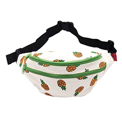 d186eb8f2239 LParkin Fanny Pack Pineapple Hip Bag Waist Bag Canvas Bum Belt Hip Pouch  Bags Purses Festival