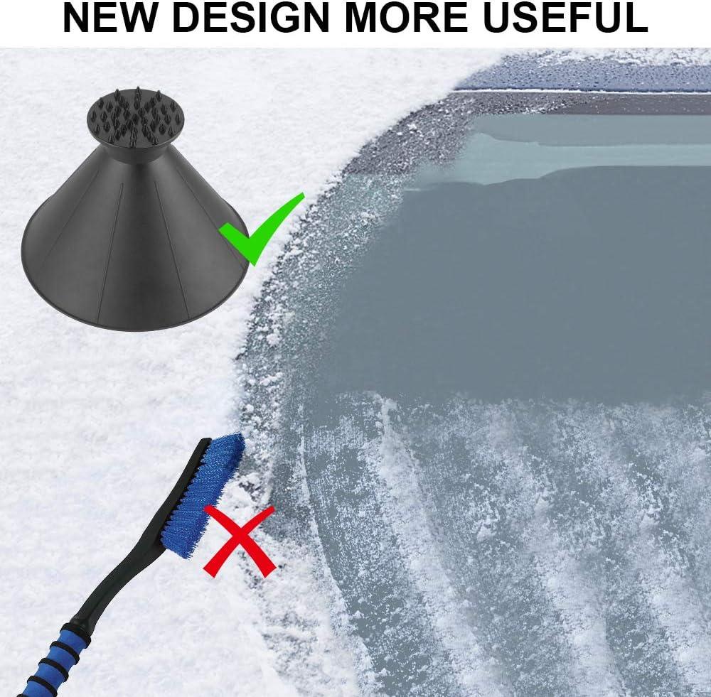 feeilty Magique Pare-Brise Ices Neige Remover Grattoir /À C/ône Portable En Forme DEntonnoir Ext/érieur Remover Neige Outil Voiture