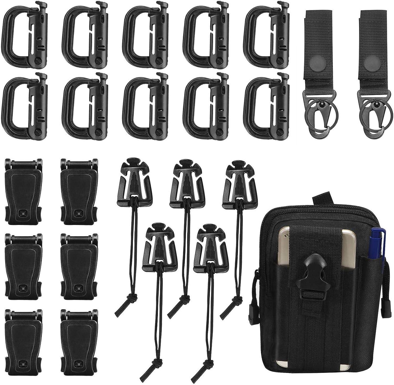 11 Attachment Kit for Tactical Molle Bag Backpack Vest Belt D-Rings