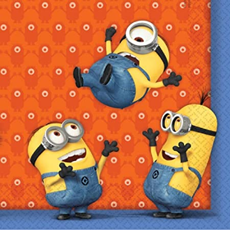 Servilletas Minions Minion 33 x 33 cm 20 unidades): Amazon ...