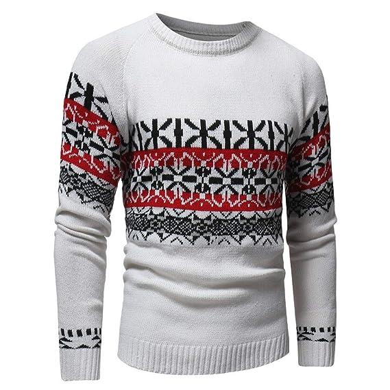 ZARLLE Hombre Otoño Invierno Pullover Punto Cardigan Coat Suéter de los Hombres de Otoño Invierno Pullover de Punto Cardigan Coat Print Sweater Jacket ...