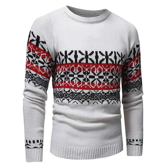 ♚Suéter Outwear Hombre Otoño, Chaqueta de Punto con Estampado de Invierno de la Chaqueta de Punto de Invierno Absolute: Amazon.es: Ropa y accesorios