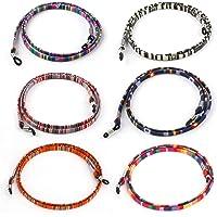 Hifot Correa Gafas 6 Piezas, Cuerda Gafas de Sol, Retenedor Cadenas Gafas Lectura para Mujer Hombre niño