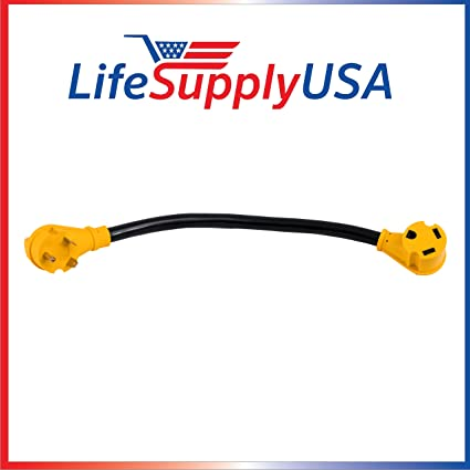 25 Feet RV Extension Cord with PowerGrip Handle Hook and Loop Strap 30 Amp 10-Gauge 10AWG3 10//3 125V STW TT30P//TT30R 25ft LifeSupplyUSA