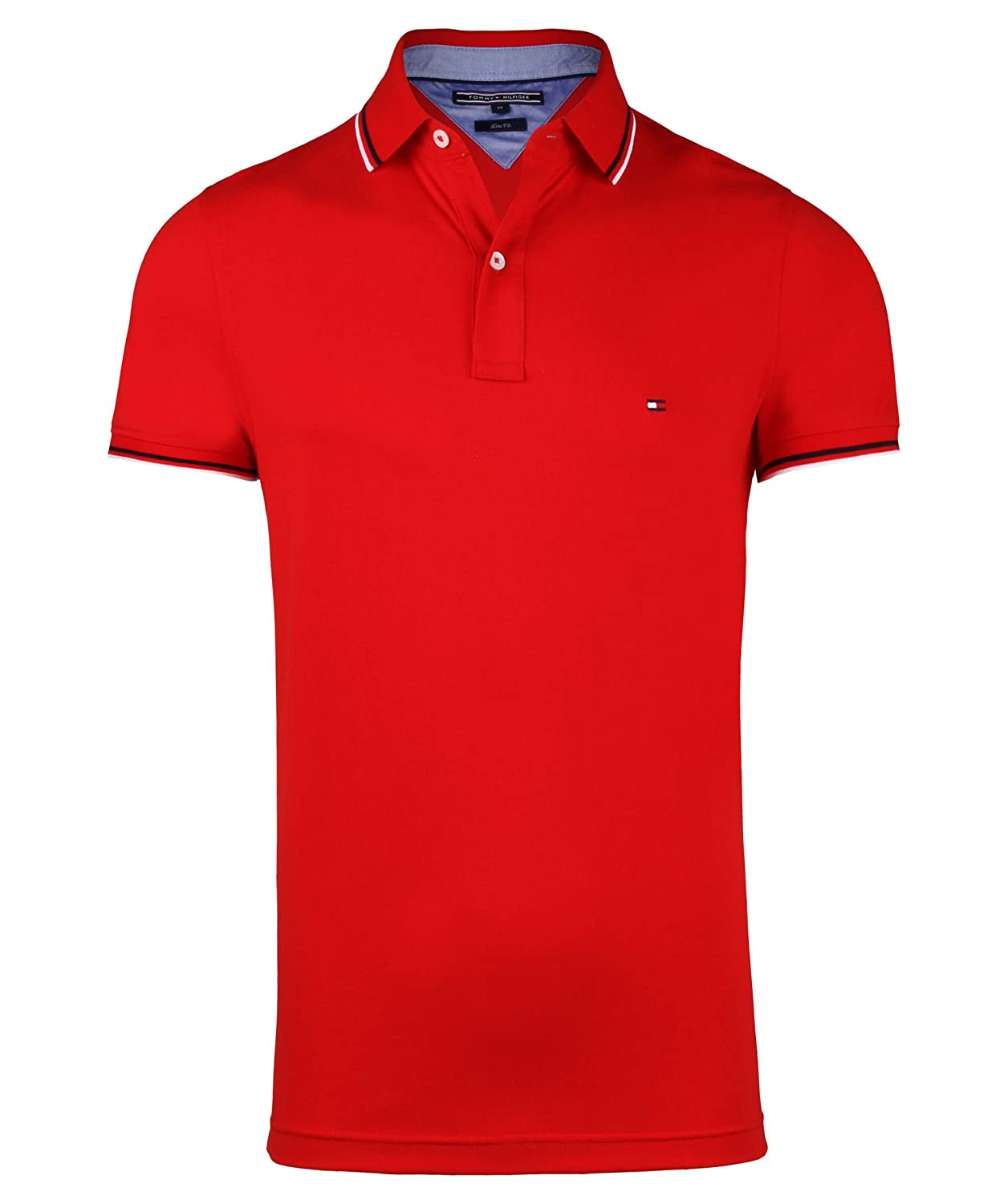 Tommy Hilfiger Tommy Tipped Polo S/S SF-Polo Hombre 1 Rojo XL ...