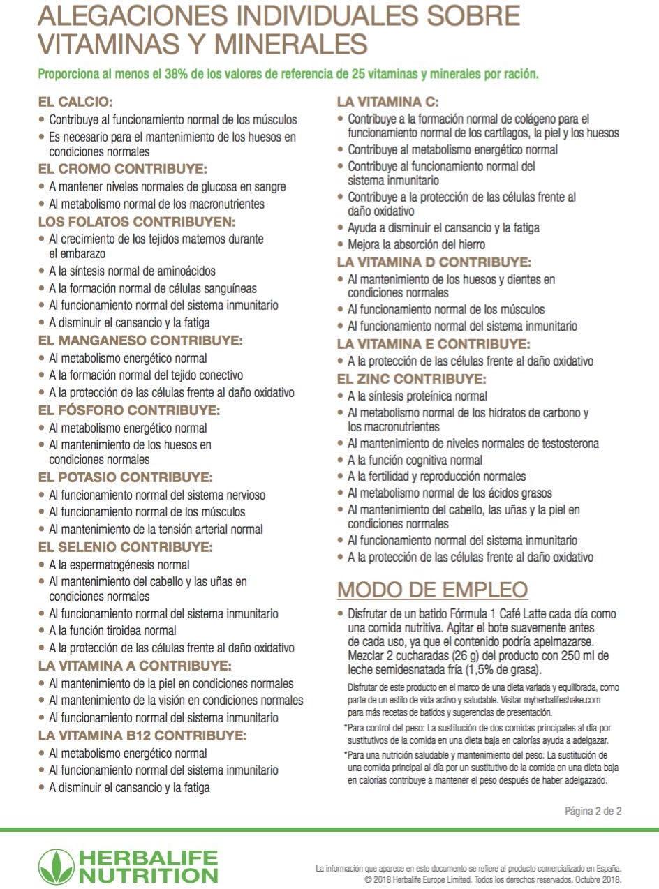 Herbalife Formula 1 batido nutricional sabor Vainilla: Amazon.es ...