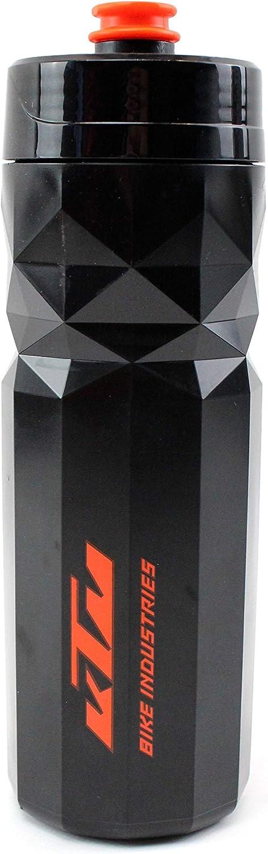 KTM Bottle Team 700 - Cantimplora deportiva para bicicleta, color negro y naranja
