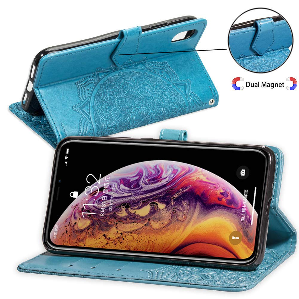 Funda para Samsung Galaxy s10 plus PU Cuero Flip Folio Carcasa Libro con Tapa de Cuero Piel Suave de Negocio Caja de Cuero Wallet Case del Tir/ón Protecci/ón De Cuerpo