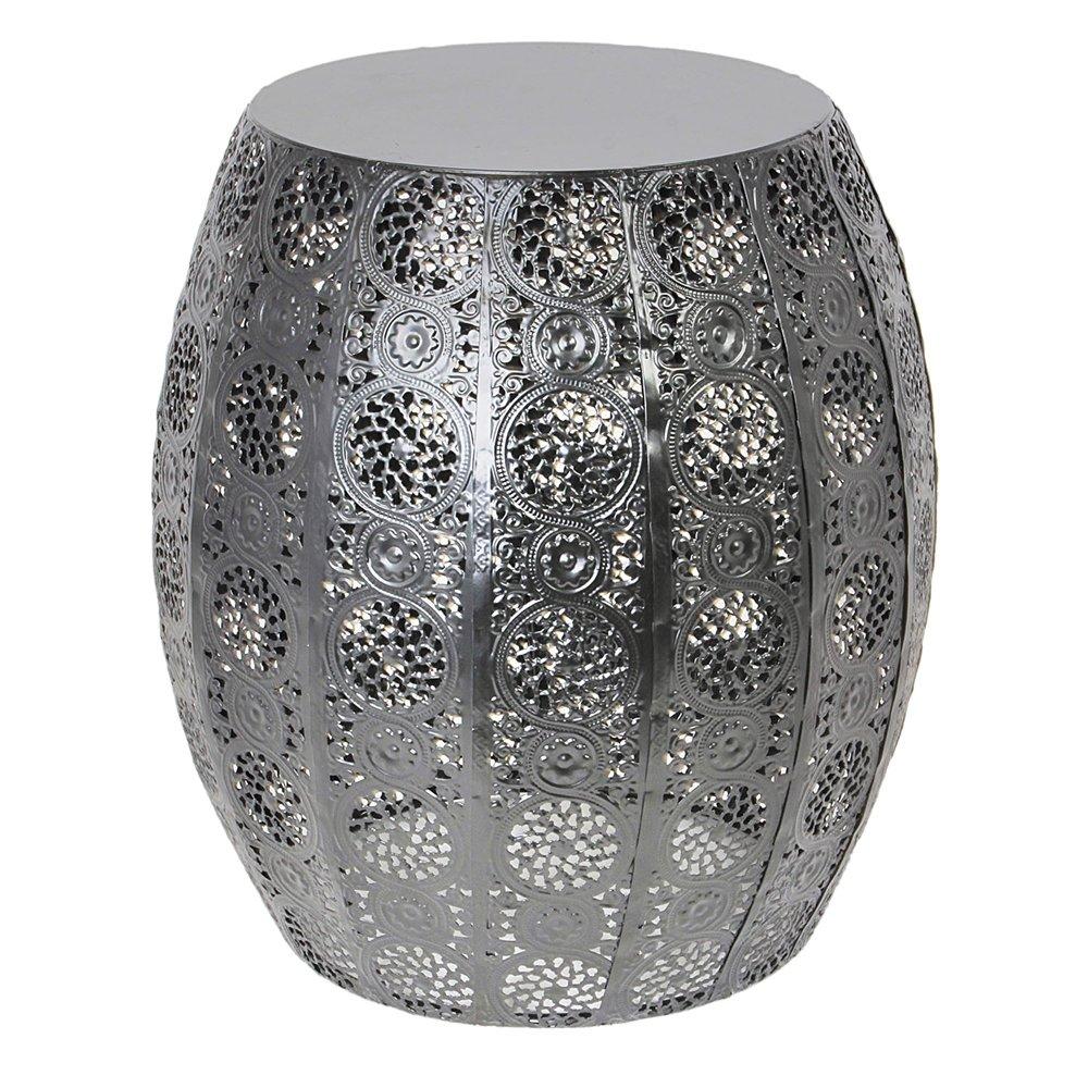 THE HOME DECO FACTORY Table D'appoint Ajouré, Metal, 30 x 30 x 35 cm CMP Paris HD3958