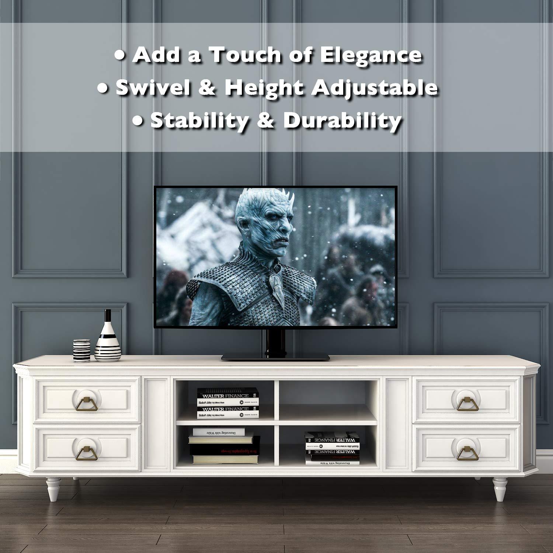 1home Universale Piedistallo Stand Supporto TV da Mobile per Schermo 32-55 Pollici LCD//LED//Plasma