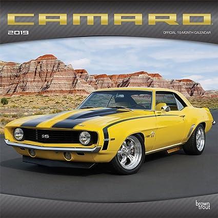 Amazon Com 2019 Camaro Wall Calendar Muscle Cars Hot Rods By