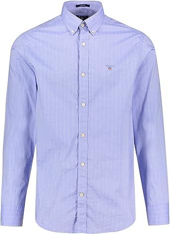 GANT 1804.3012930 - Camisa de manga larga para hombre, color azul claro 440 S: Amazon.es: Ropa y accesorios