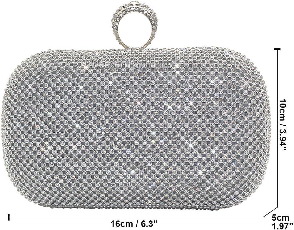 Gold Diamante Encrusted Wedding Evening Clutch Handbag Purse Party Prom Bag