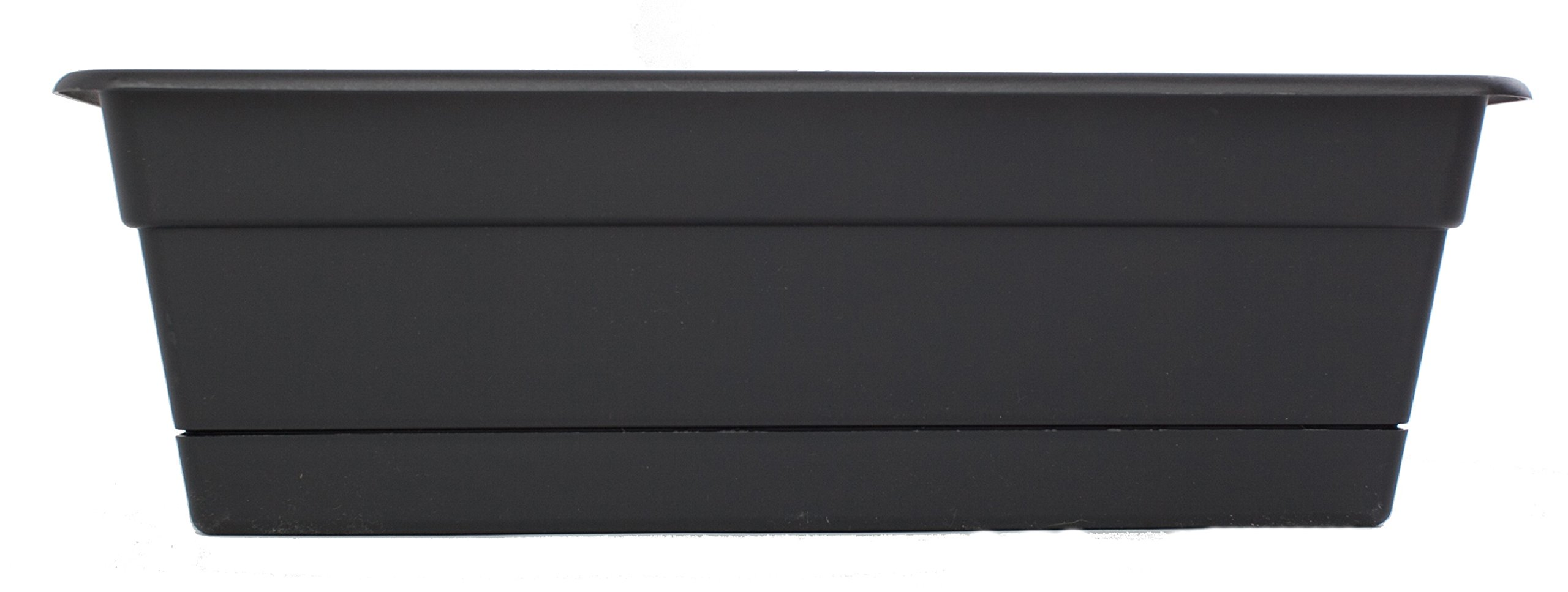 Bloem DCBT24-00 Dura Cotta Plant Window Box, Black