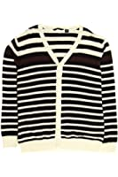 Sean John Men's Beige Striped Cardigan Sweater