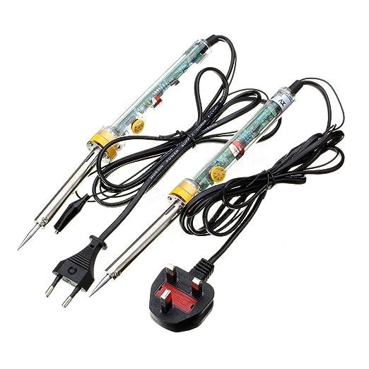 Flying colourz soldador Kit Pistola Temperatura Variable Soldadura Hierro + alambre conductor de soldadura: Amazon.es: Electrónica
