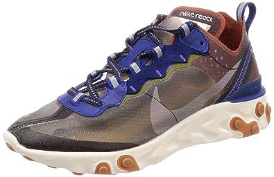 buy popular 2ebac 119af Nike React Element 87, Chaussures d Athlétisme Homme, Multicolore (Dusty  Peach
