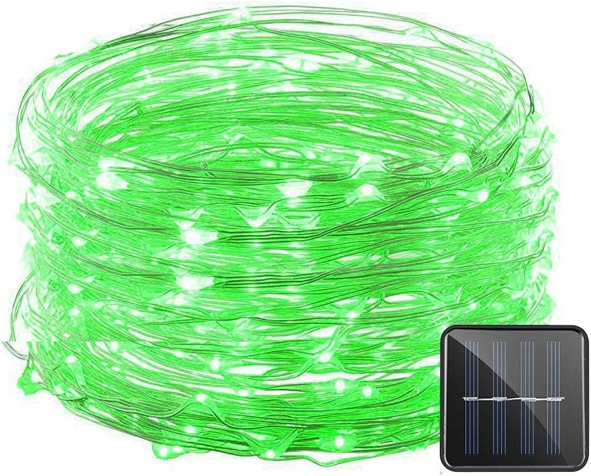 VMANOO Solar String Lights, 32 Feet 100 LED Starry String Lights Copper Wire Lights, Indoor Outdoor Lighting for Home, Garden, Party, Path, Lawn, Wedding, Christmas, DIY Decoration, 1-Pack (Green)