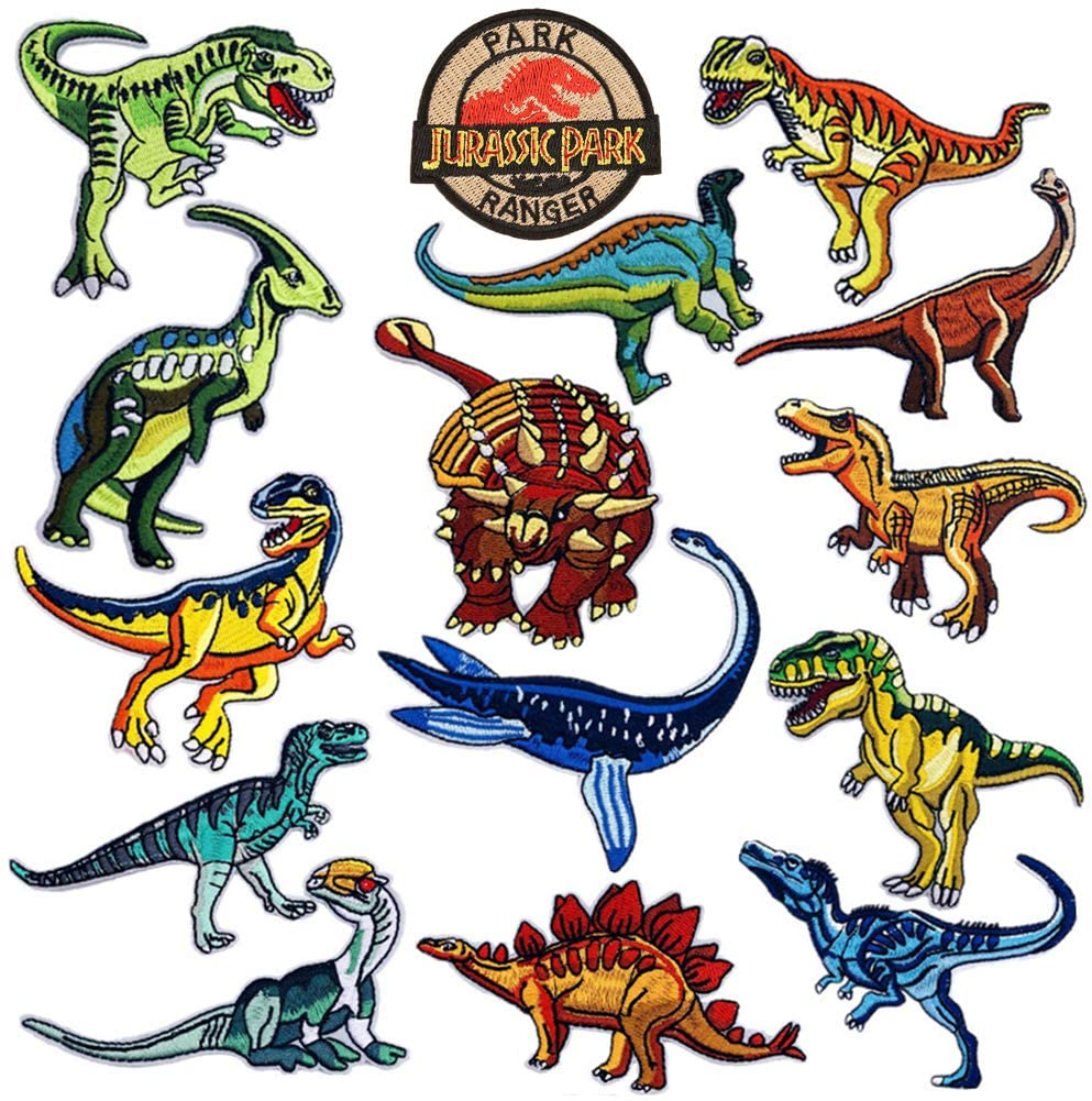 Jurassic Park Iron On Embroidered Patches Clothing Ironing Applications Patches