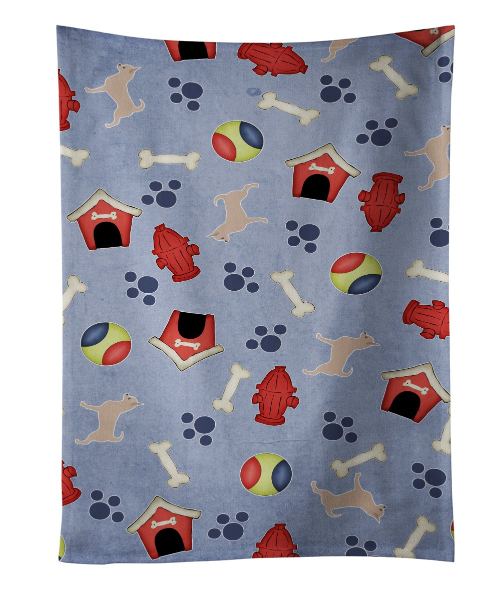 Multicolor Carolines Treasures BB3929KTWL Australian Kelpie Dog Dog House Kitchen Towel 25 x 15