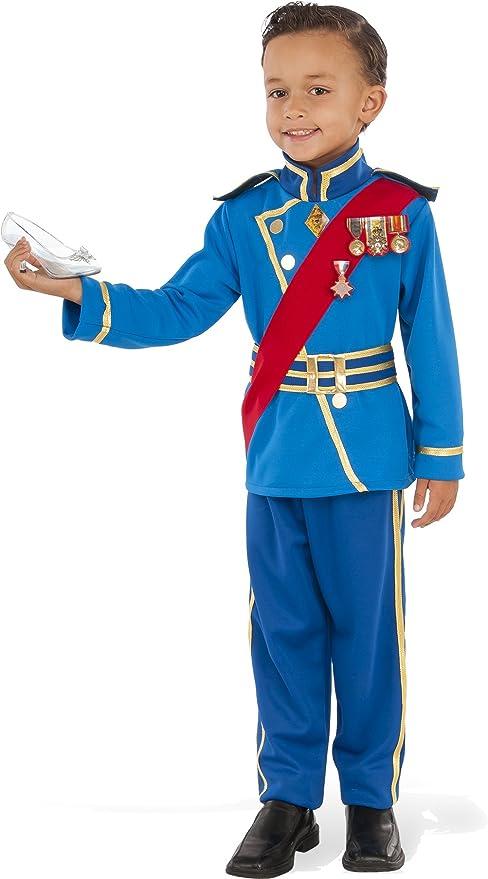 Rubies - Disfraz de Principe Real para niño, azul, Talla 7-8 años ...