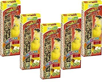 Nestor Canarios Fuga erbissen 5 x 2 paquetes akku-knabber Barras con fruta