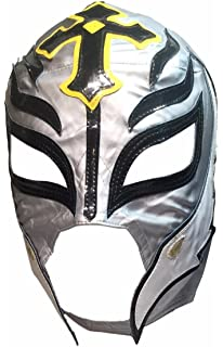 Main Street 24/7 WWE Licensed Rey Mysterio Youths Kid Size Silver With Black Trim