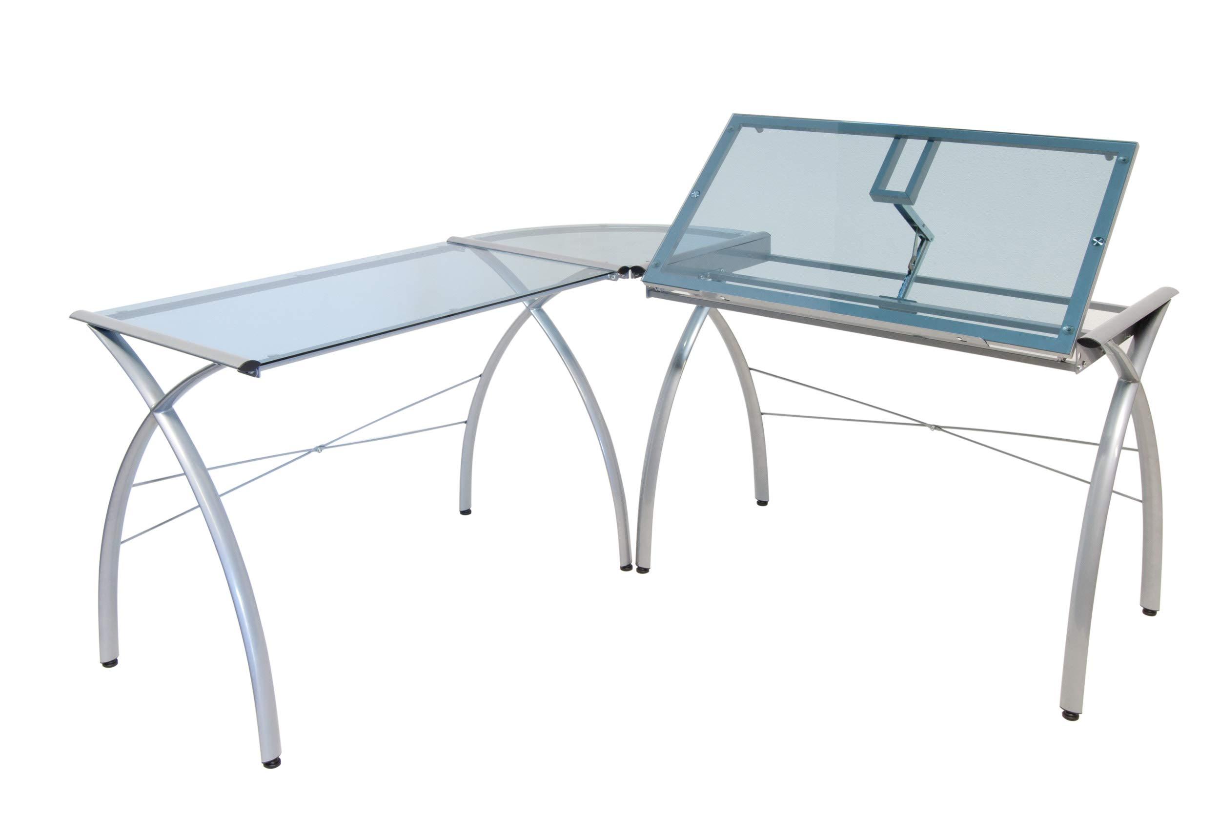 Studio Designs 50306 Futura LS Work Center with Tilt, Silver/Blue Glass