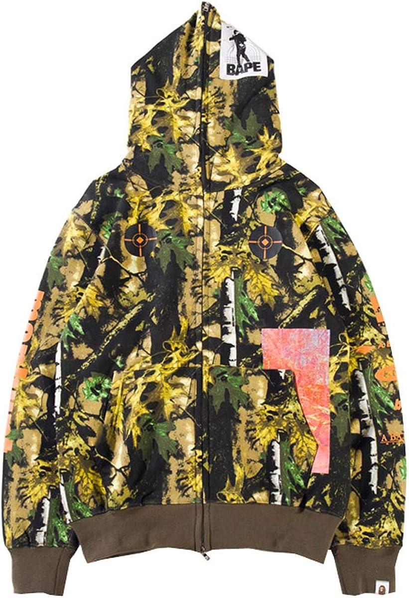Fashion Unisex Hoodie Bape Classic Camo Shark Jaw Head Icon A Bathing Ape Jacket