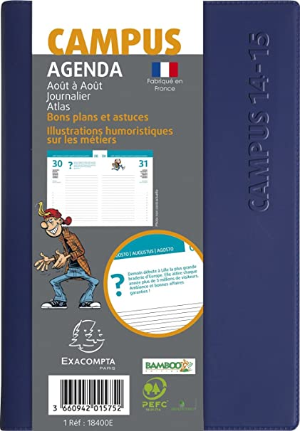 Amazon.com : Exacompta School Agenda Journalier Forum Campus ...