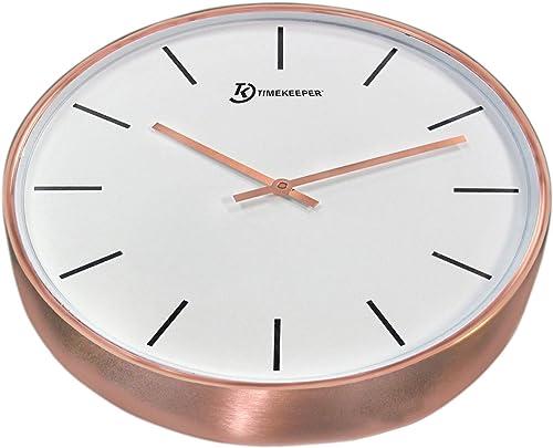 15″ Genuine Brushed Copper Wall Clock