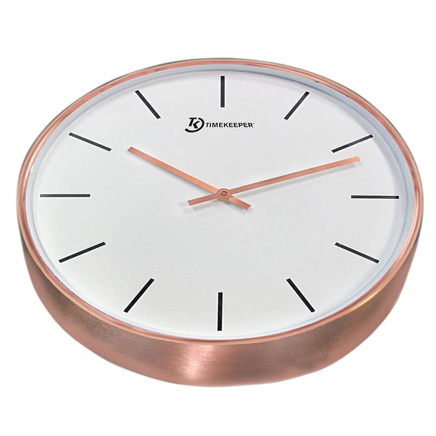 Amazoncom 15 Genuine Brushed Copper Wall Clock With Copper Hands