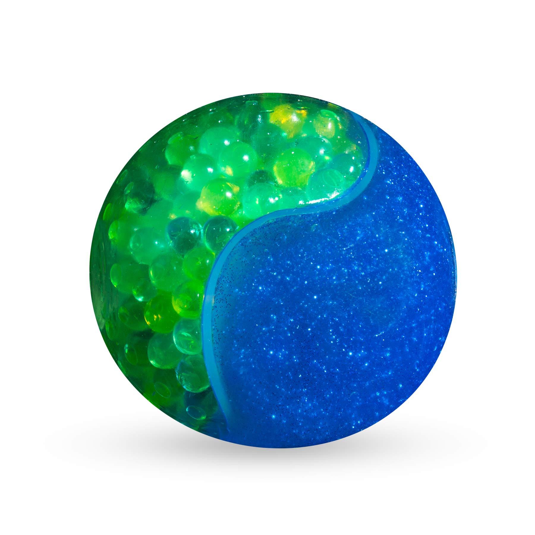Orb Odditeez Ultra 4 Halfzeez Ball Squishy Slime Ball Half Glitter Slime Half Balzz & HOT New Toy (Blue-Green)