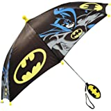 DC Comics boys Little Boys Batman Umbrella, Black/Yellow, Age 3-7 Age 3-7