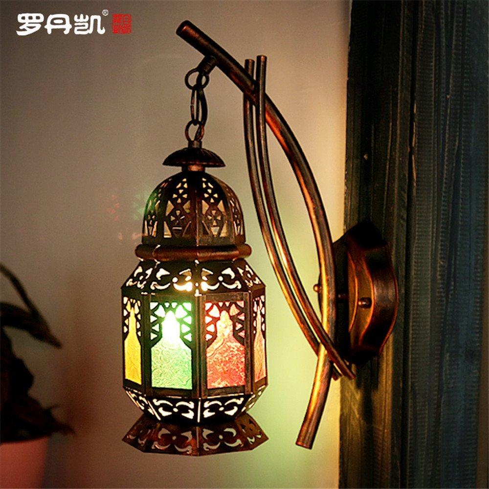 DengWu lampada da parete Boemia creative luci a parete bagno turco ristorante Cafe Inn lodges colore luce corsia (250  410mm) lampade