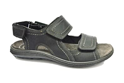 e9871729ec51 Enval soft 1215322 Sandalen Schuhe Herren Trekking aus Schwarzem Leder
