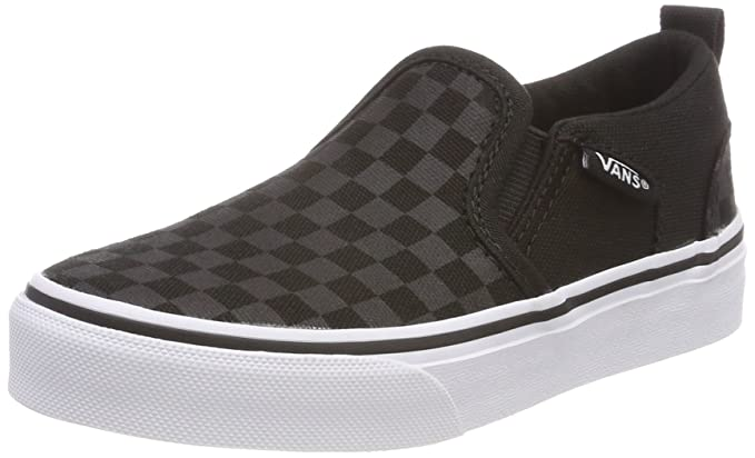 Amazon.com  Vans Asher Youth Sneakers - Checker Black Black - UK 13 ... 49096cd3a