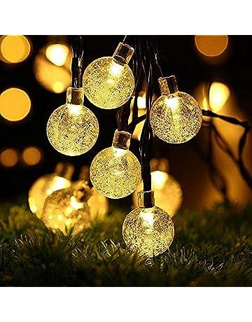 OxyLED Guirnalda de luces solares,30 luces LED para jardín, patio, exteriores,