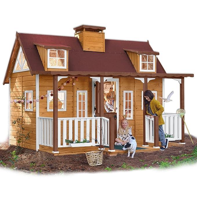 Green House Casita Infantil de Madera con Porche Florida: Amazon.es: Juguetes y juegos