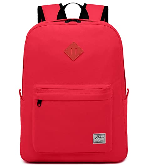 e526ff23b68b Abshoo Classical Basic Womens Travel Backpack For School Men Water  Resistant Bookbags (Red)