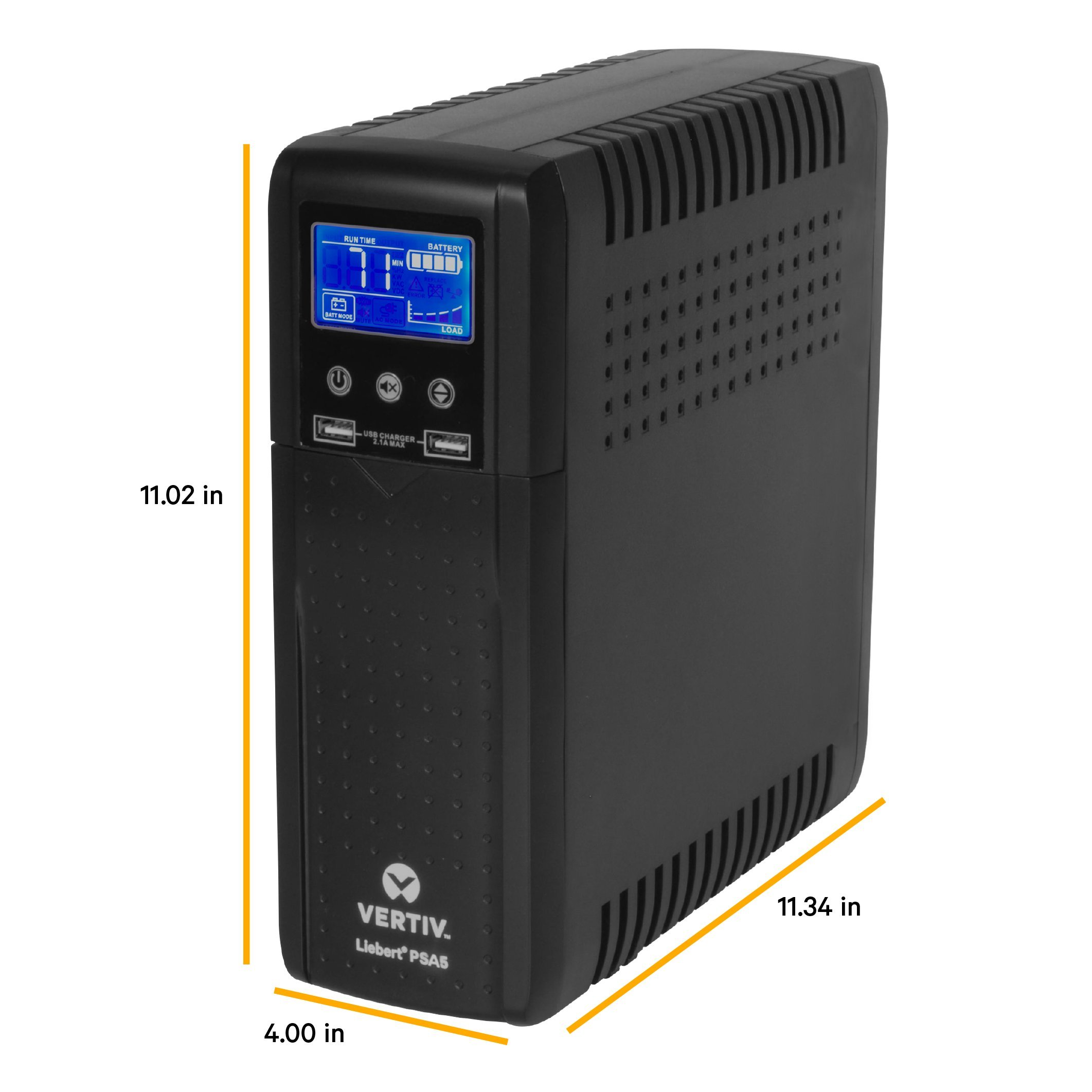 Vertiv Liebert PSA5 700VA 420W line-Interactive UPS with AVR Technology and Battery Backup, 10 outlets and Three-Year, Full Unit Replacement Warranty (PSA5-700MT120) by Liebert (Image #3)