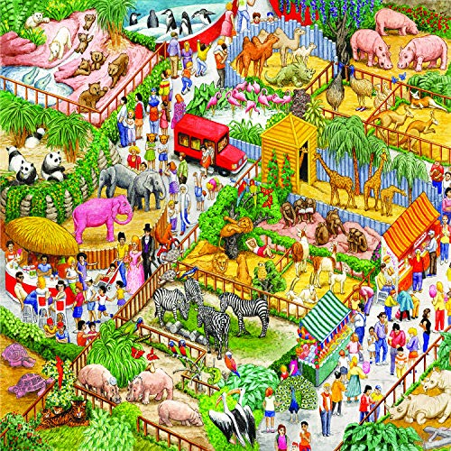Sunsout 2019 A Crazy Zoo 1000 Piece Animals Jigsaw Puzzle ()