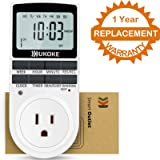 UKOKE UTM01WFBA UTM01W Appliance 7 Day Weekly Programmable Outlet Wall Switch, Digital Light Plug-in Timer for Electrical Outle (1 Pack)