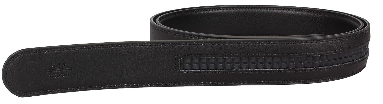 Riemen für Automatik Gürtel schwarz- Gürtel mit Automatik Schließe aus Spaltleder beschichtet - 3 oder 3, 5cm breit - Länge 105-160cm