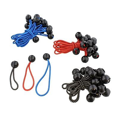 ABN Bungee Ball Fastener, Elastic Ties Tarp Ball Bungee Cords, Canopy Bungee Cord Balls - 5.5, 4.7, 3.5 Inch 60-Pack