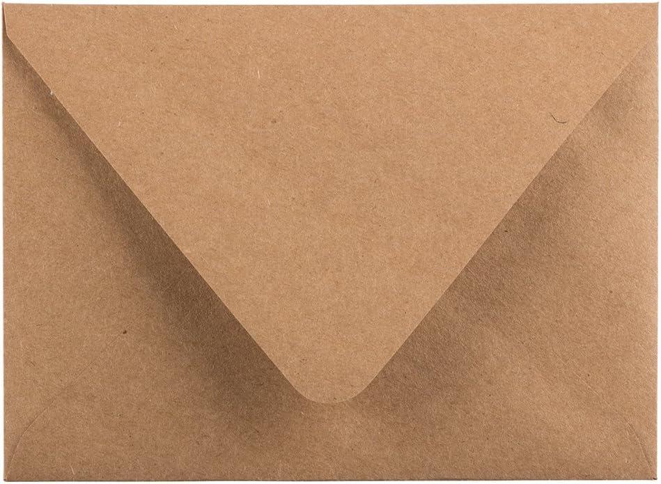 Kraft Brun Recycl/é 120,7 x 165,1 mm JAM PAPER Enveloppes dInvitation /à Rabat en V 50//Paquet
